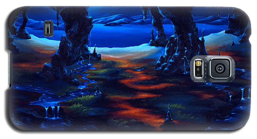 Textured Painting Galaxy S5 Case featuring the painting Living Among Shadows by Jennifer McDuffie