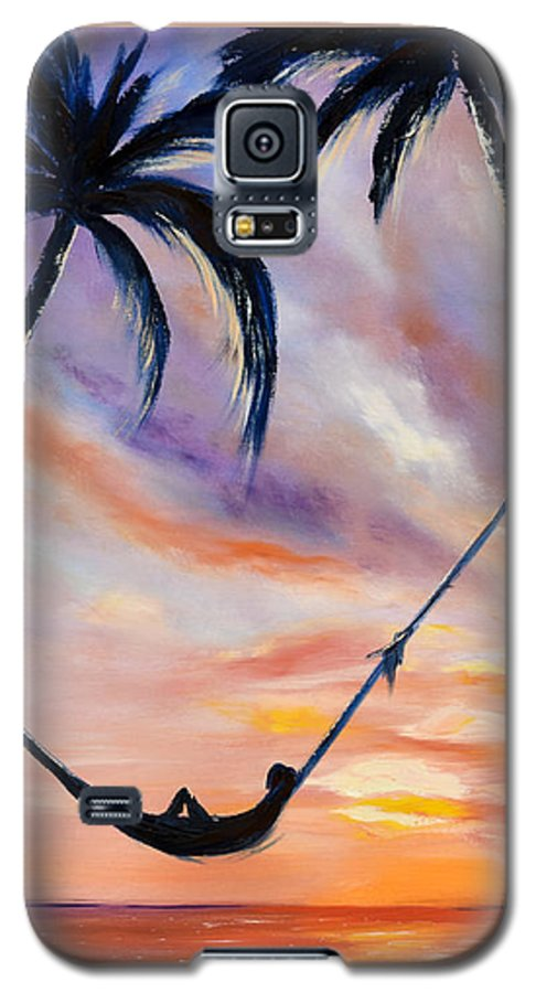 Sunset Galaxy S5 Case featuring the painting Living The Dream by Gina De Gorna
