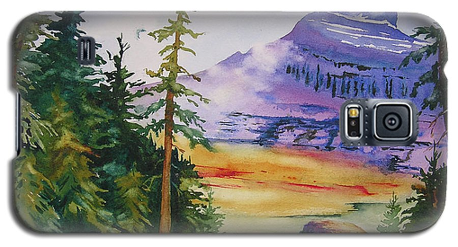 Landscape Galaxy S5 Case featuring the painting Logan Pass by Karen Stark