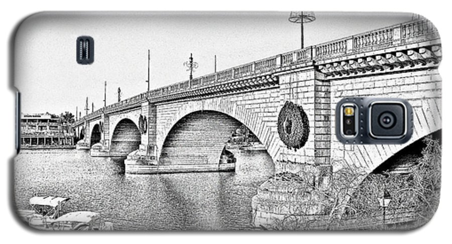 Lake Havasu Galaxy S5 Case featuring the photograph London Bridge Lake Havasu City Arizona by Christine Till
