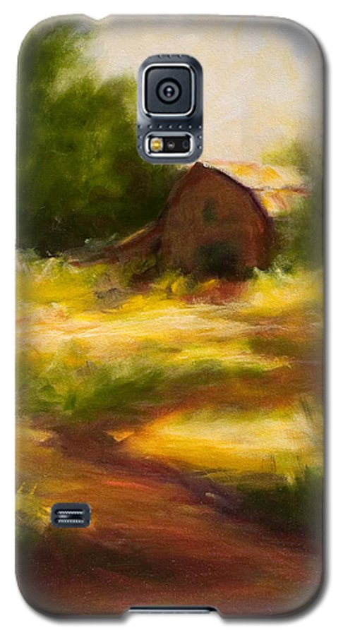 Landscape Galaxy S5 Case featuring the painting Long Road Home by Shannon Grissom