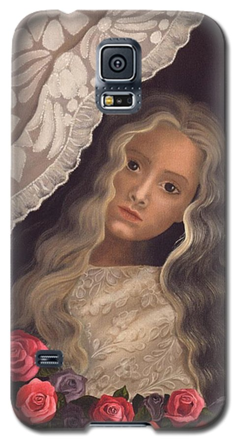 Victorian Galaxy S5 Case featuring the painting Longing by Brenda Ellis Sauro