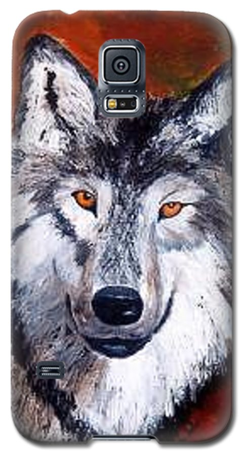 Palette Knife Galaxy S5 Case featuring the painting Look Into My Eyes by Tami Booher