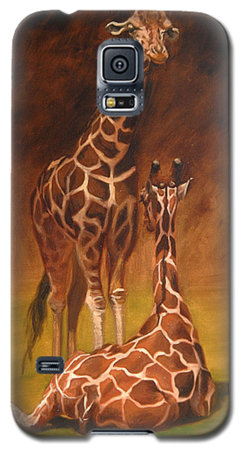 Oil Galaxy S5 Case featuring the painting Looking Out For Each Other by Greg Neal