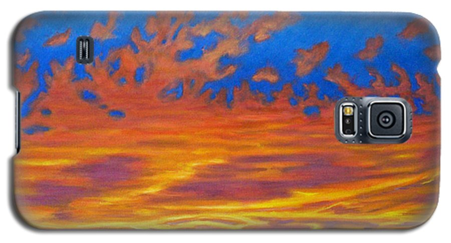 Landscape Galaxy S5 Case featuring the painting Looking To The Southwest by Brian Commerford