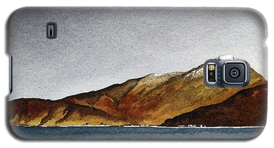 Seascape Galaxy S5 Case featuring the painting Looking Towards Arran From Skipness by Paul Dene Marlor