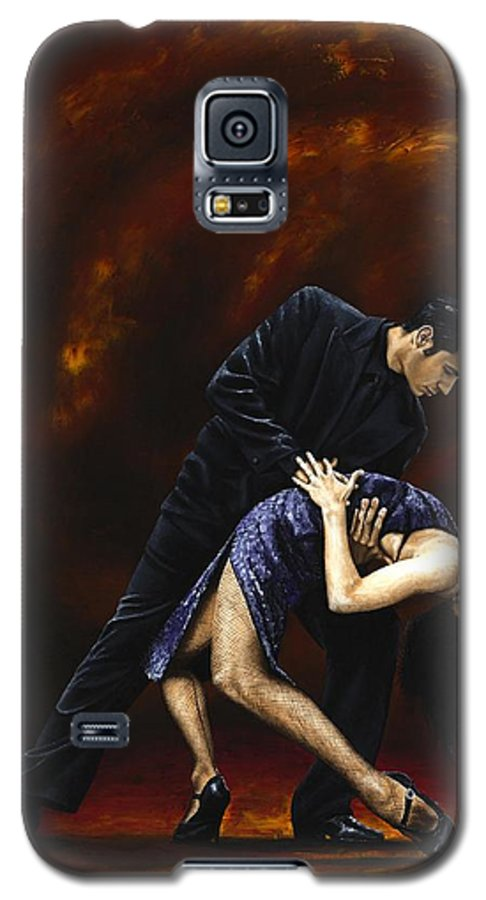 Tango Galaxy S5 Case featuring the painting Lost In Tango by Richard Young
