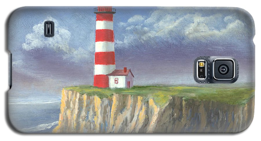 Light Galaxy S5 Case featuring the painting Lost Point Light by Jerry McElroy