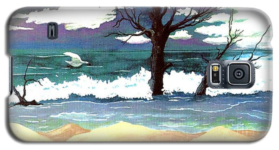 Original Watercolor Painting Galaxy S5 Case featuring the painting Lost Swan by Patricia Griffin Brett