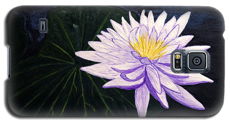 Original Painting Galaxy S5 Case featuring the painting Lotus Blossom At Night by Patricia Griffin Brett