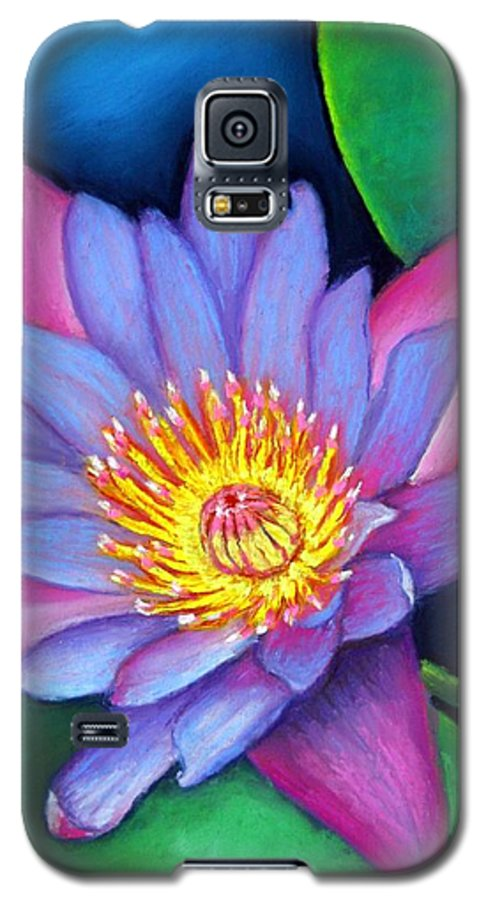 Flower Galaxy S5 Case featuring the painting Lotus Divine by Minaz Jantz