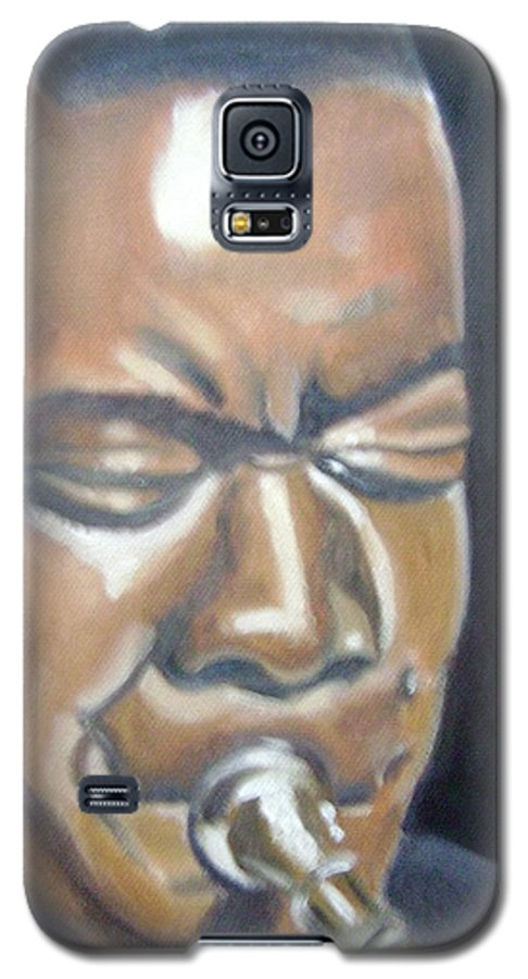 Louis Armstrong Galaxy S5 Case featuring the painting Louis Armstrong by Toni Berry