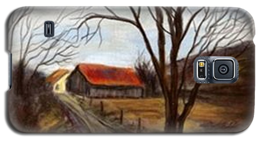 Barn Galaxy S5 Case featuring the painting Louisa Kentucky Barn by Gail Kirtz