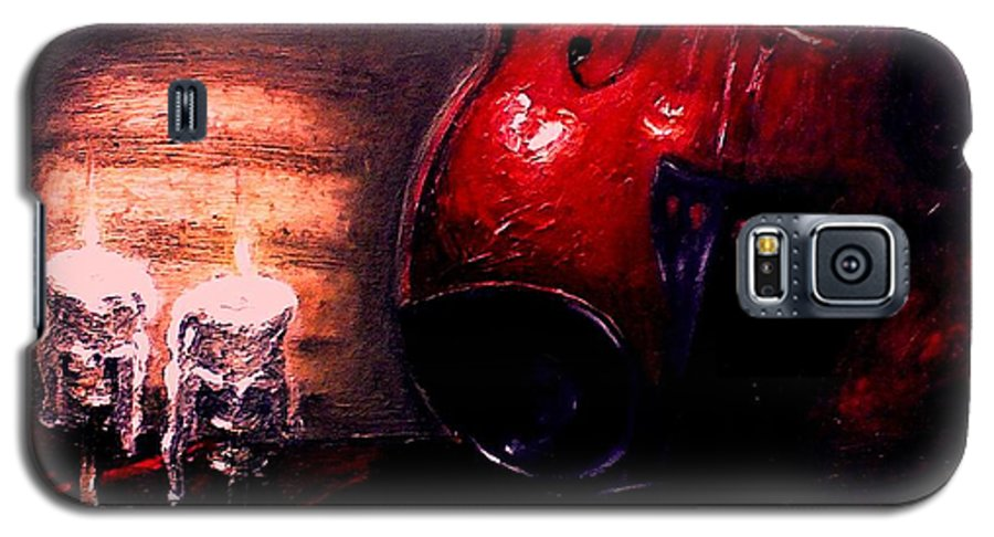 Love Galaxy S5 Case featuring the painting Love For Music by Patricia Awapara