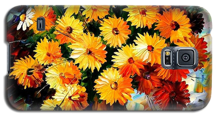 Flowers Galaxy S5 Case featuring the painting Love Irradiation by Leonid Afremov