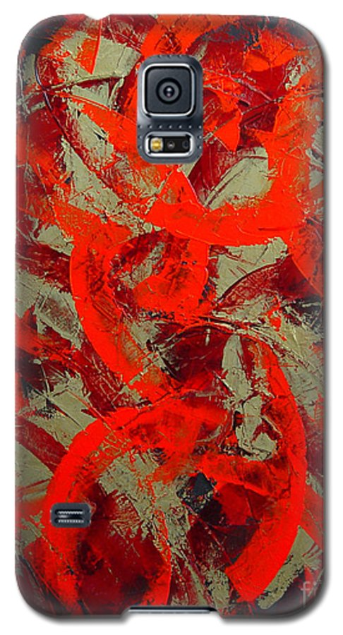 Abstract Galaxy S5 Case featuring the painting Love Trails by Dean Triolo