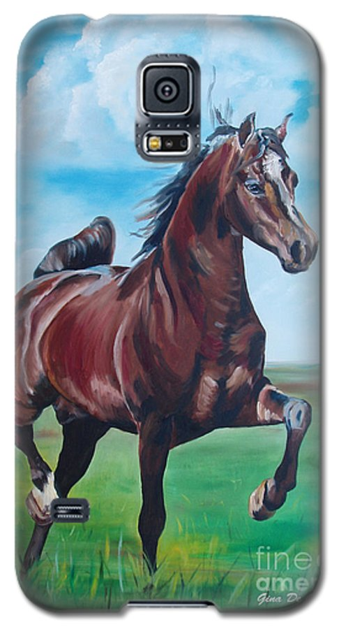 Horse Galaxy S5 Case featuring the painting Lovely by Gina De Gorna