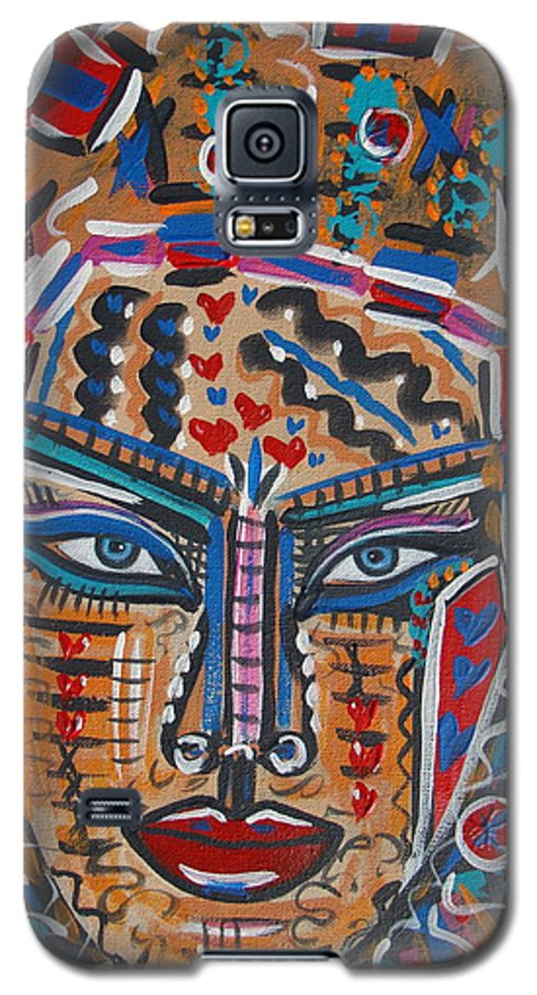 Abstract Galaxy S5 Case featuring the painting Loviola by Natalie Holland