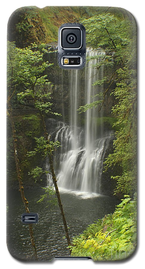 Silver Falls Galaxy S5 Case featuring the photograph Lower South Falls by Idaho Scenic Images Linda Lantzy