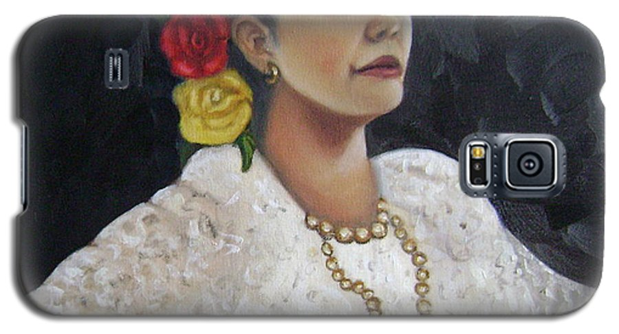 Galaxy S5 Case featuring the painting Lucinda by Toni Berry