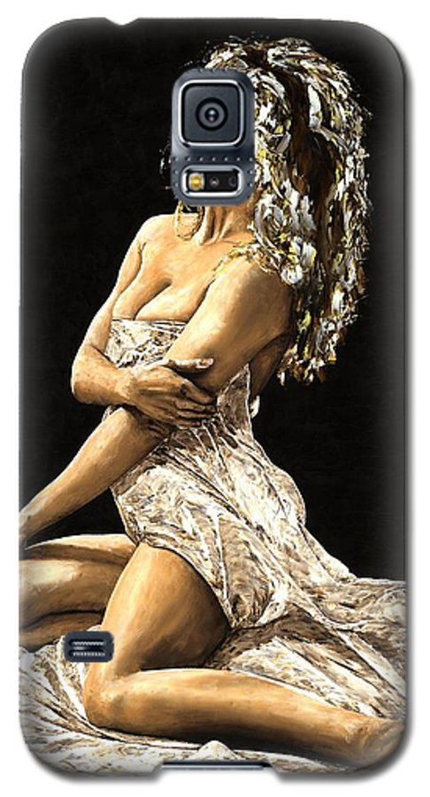 Nude Galaxy S5 Case featuring the painting Luminous by Richard Young
