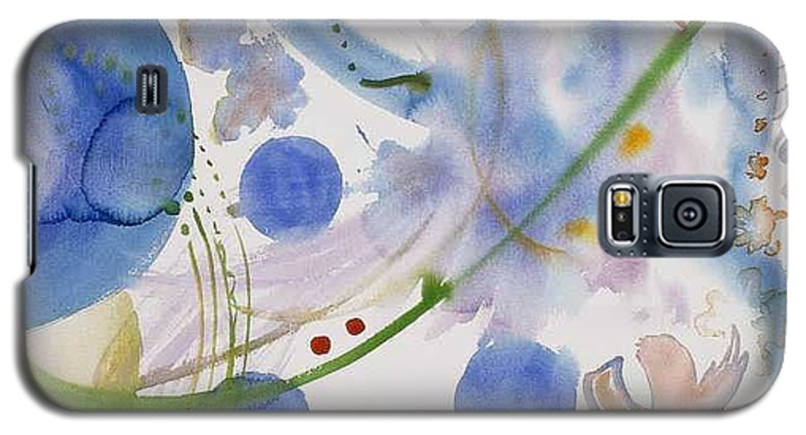 Abstract Galaxy S5 Case featuring the painting Lunar Galactic Convergence by Eileen Hale