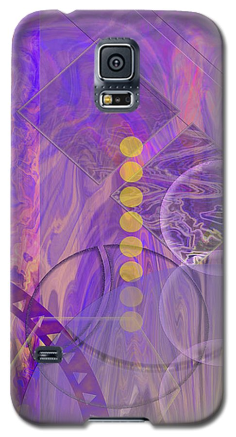 Lunar Impressions 3 Galaxy S5 Case featuring the digital art Lunar Impressions 3 by John Beck