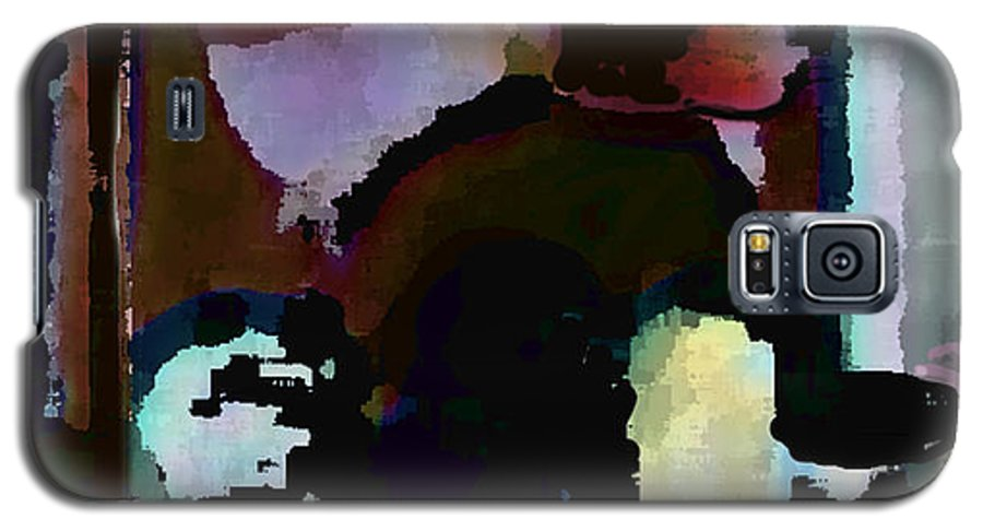 Abstract Expressionism Galaxy S5 Case featuring the painting Lunch Counter by Steve Karol
