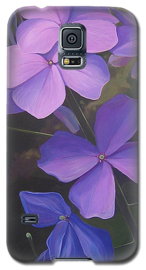 Closeup Of Colorado Wildflower Near Durango Galaxy S5 Case featuring the painting Lush Life by Hunter Jay