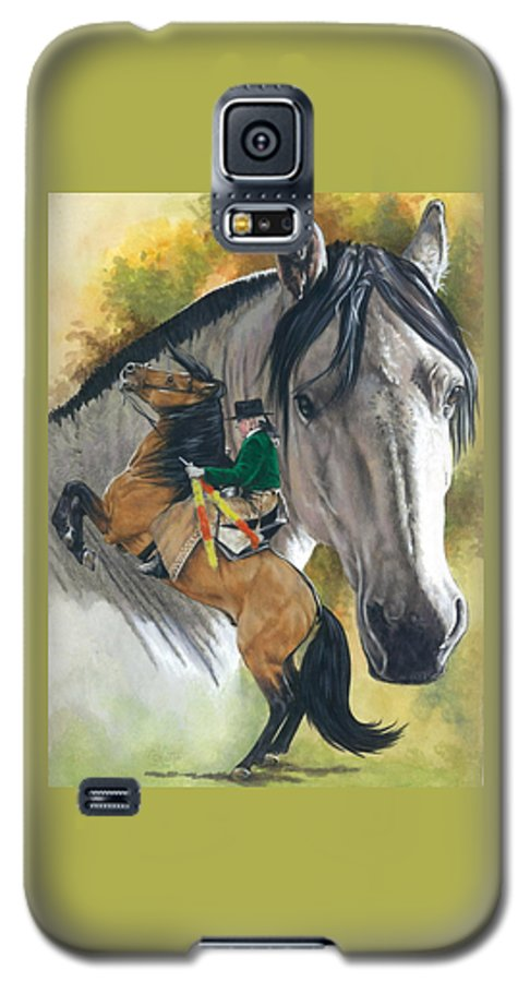 Hoof Stock Galaxy S5 Case featuring the mixed media Lusitano by Barbara Keith