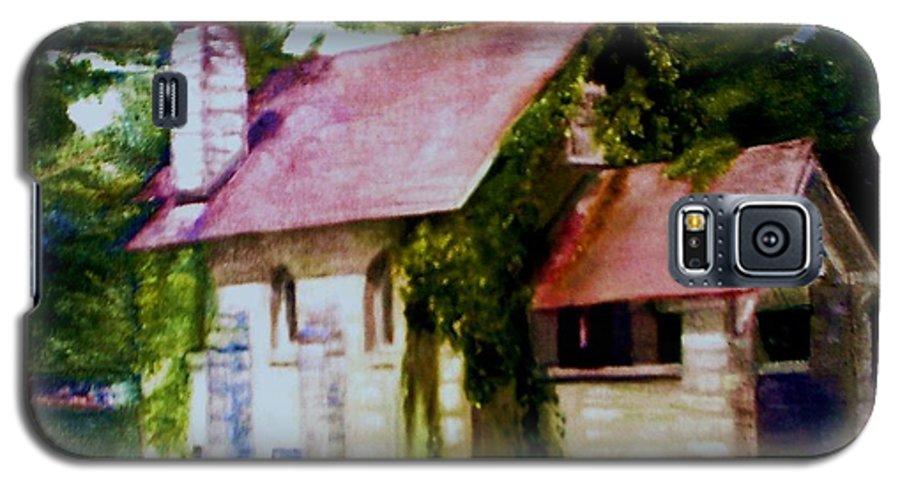 Church Galaxy S5 Case featuring the painting Lyons Falls Church by Sheila Mashaw