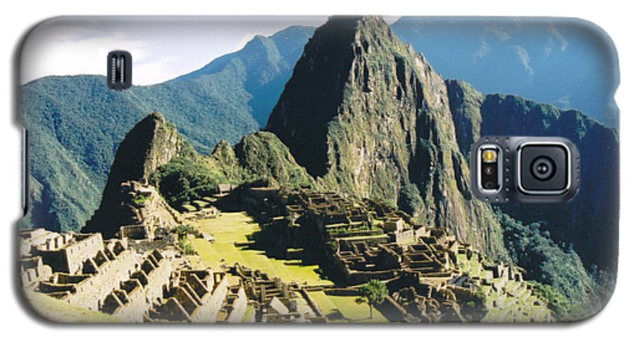 Peru Galaxy S5 Case featuring the photograph Machu Picchu by Kathy Schumann