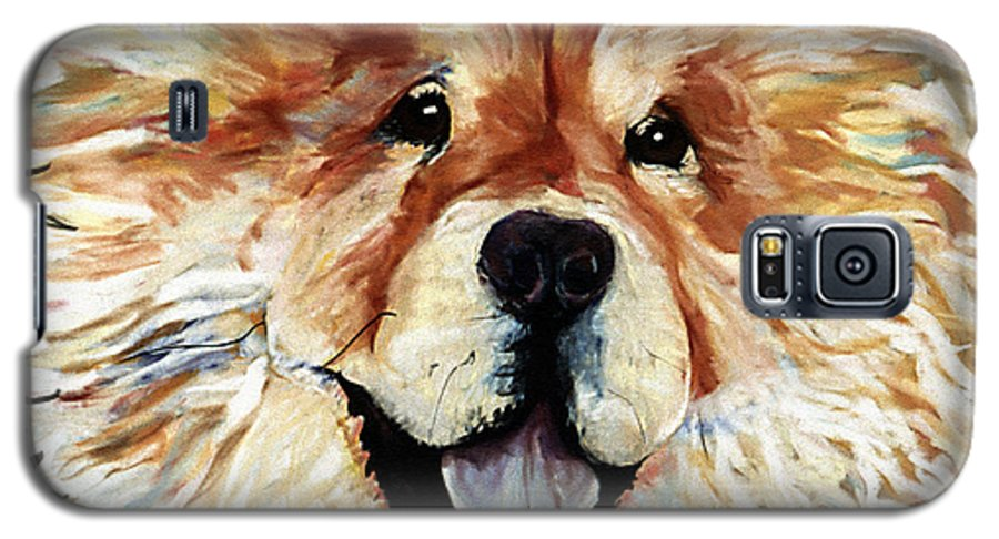 Chow Chow Galaxy S5 Case featuring the pastel Madame Chu Cho by Pat Saunders-White
