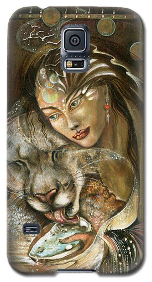 Wildlife Galaxy S5 Case featuring the painting Madonna by Blaze Warrender