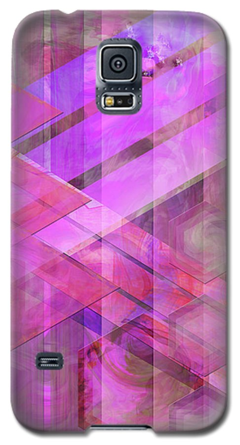 Magenta Haze Galaxy S5 Case featuring the digital art Magenta Haze by John Beck