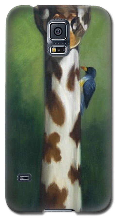 Galaxy S5 Case featuring the painting Maggie by Greg Neal