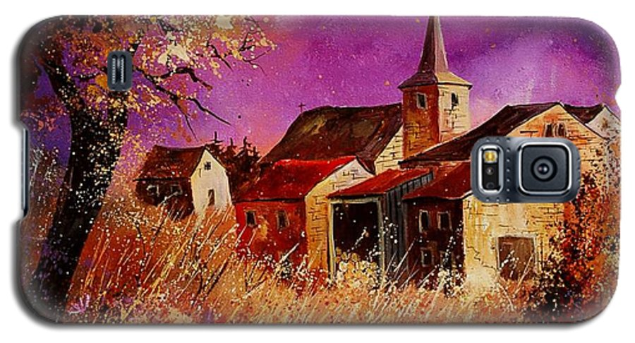 Landscape Galaxy S5 Case featuring the painting Magic Autumn by Pol Ledent