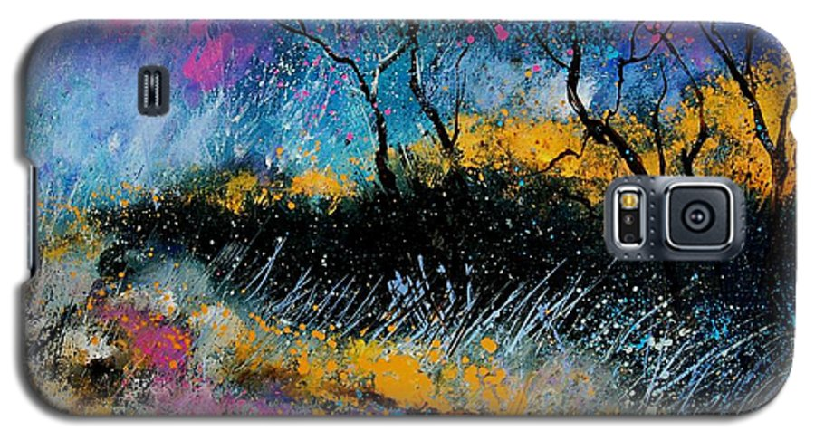 Landscape Galaxy S5 Case featuring the painting Magic Morning Light by Pol Ledent