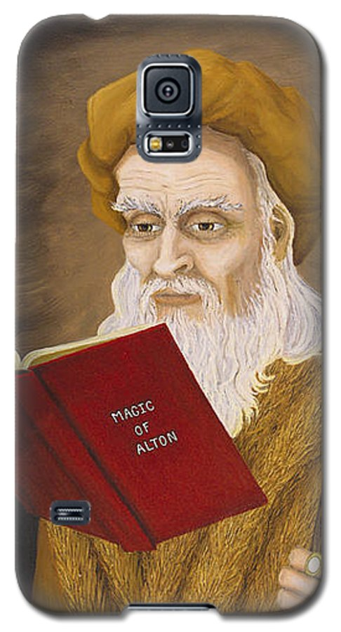 Magic Galaxy S5 Case featuring the painting Magic Of Alton by Roz Eve
