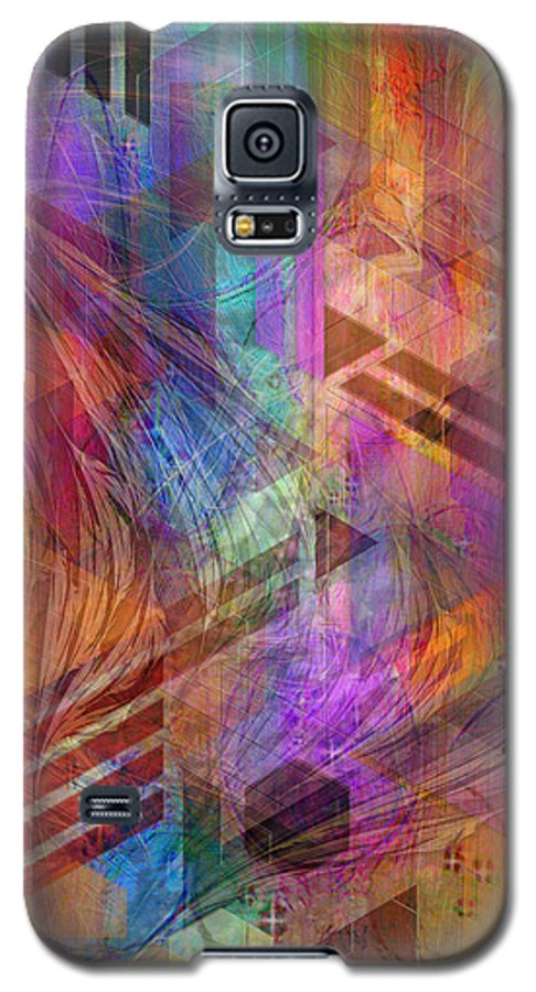 Magnetic Abstraction Galaxy S5 Case featuring the digital art Magnetic Abstraction by John Beck