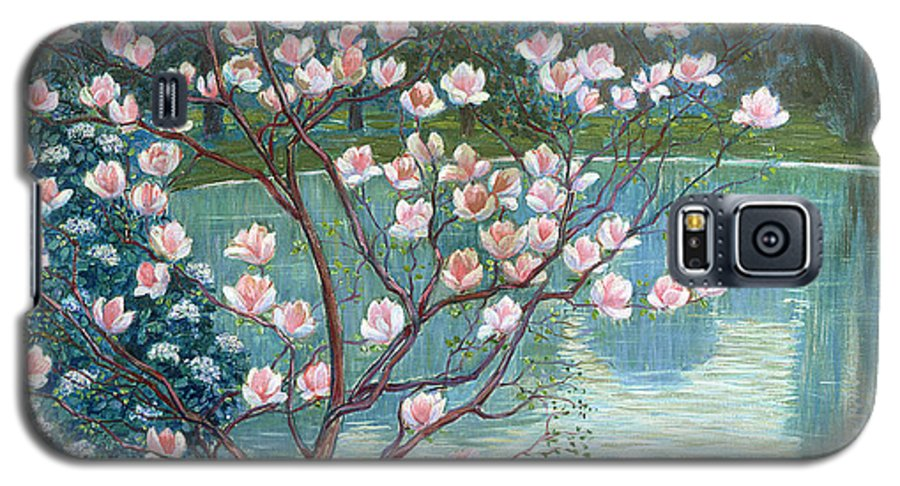 Magnolia Galaxy S5 Case featuring the painting Magnolia by Wilhelm List