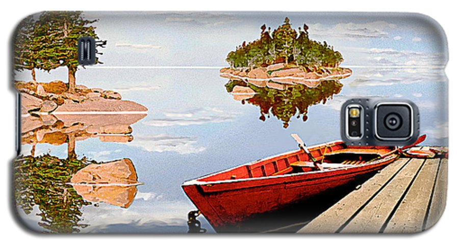 Maine Galaxy S5 Case featuring the photograph Maine-tage by Peter J Sucy