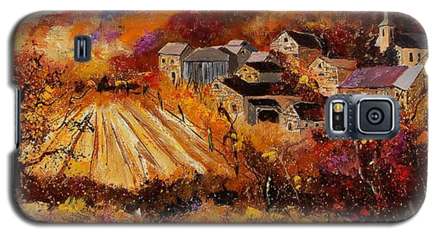 Poppies Galaxy S5 Case featuring the painting Maissin by Pol Ledent