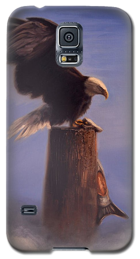 Oil Galaxy S5 Case featuring the painting Majestic by Greg Neal