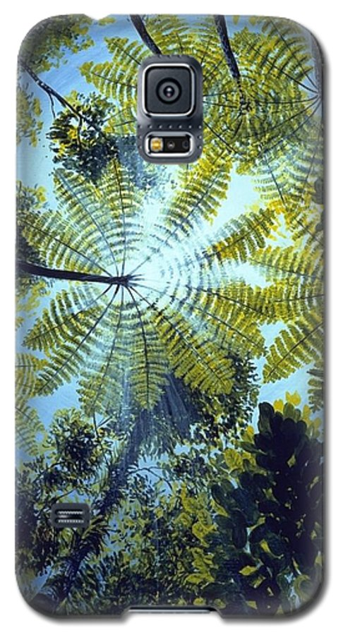 Chris Cox Galaxy S5 Case featuring the painting Majestic Treeferns by Christopher Cox