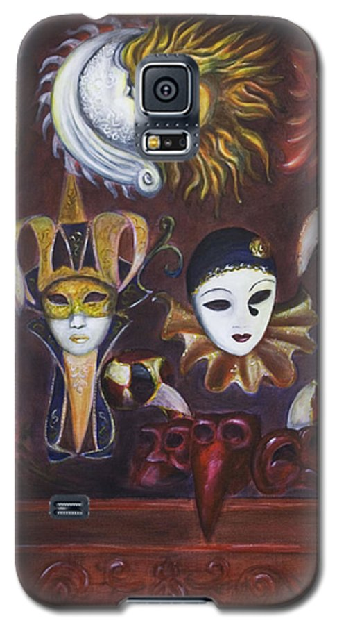 Masks Galaxy S5 Case featuring the painting Making Faces II by Nik Helbig
