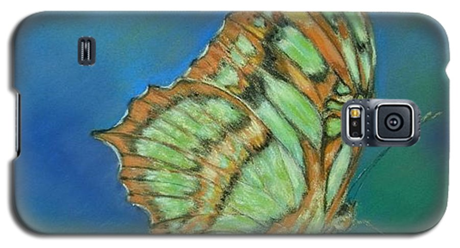 Butterfly Galaxy S5 Case featuring the painting Malachite by Ceci Watson