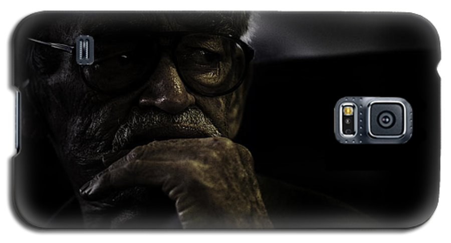 Portrait Galaxy S5 Case featuring the photograph Man On Ferry by Avalon Fine Art Photography