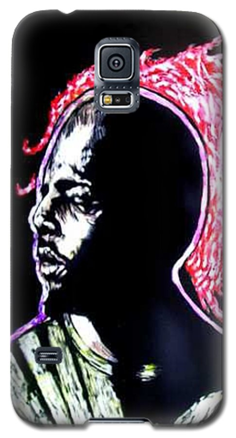 Galaxy S5 Case featuring the mixed media Man On Fire by Chester Elmore