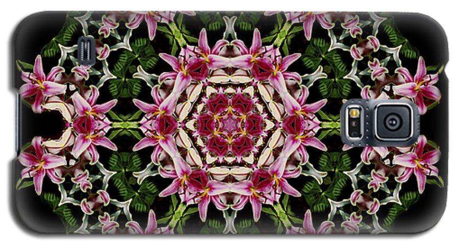 Mandala Galaxy S5 Case featuring the photograph Mandala Monadala Lisa by Nancy Griswold